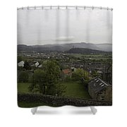 View Of Wallace Monument And Houses And Surrounding Areas Shower Curtain