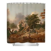 View On The Medway Shower Curtain