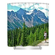 View On Trail To Lake Agnes In Banff Np-alberta Shower Curtain