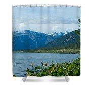 View One Kluane Lake From Cottonwood Campground Near Destruction Bay-yk   Shower Curtain