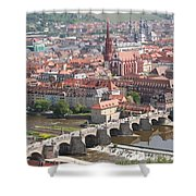 View Onto The Town Of Wuerzburg - Germany Shower Curtain