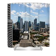 View Over Brickell Miami Shower Curtain