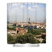View Over Florence Shower Curtain