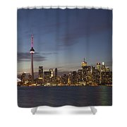 View Over Lake Ontario Of The Downtown Shower Curtain