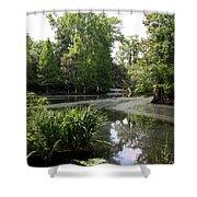 View Over Magnolia Plantation Lake Shower Curtain
