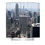 View Over Manhattan I Shower Curtain