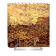 View Over Siena And San Domenico Shower Curtain