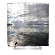 View Over The Ushuaia Bay In Tierra Del Fuego Shower Curtain