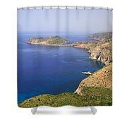 View Over To Assos Shower Curtain