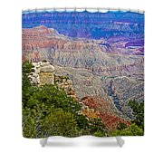 View Seven From Walhalla Overlook On North Rim Of Grand Canyon-arizona Shower Curtain