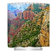View Six From Walhalla Overlook On North Rim Of Grand Canyon-arizona Shower Curtain