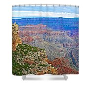View Three From Walhalla Overlook On North Rim Of Grand Canyon-arizona  Shower Curtain
