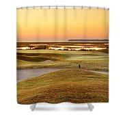 View To Spain Shower Curtain