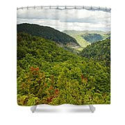 View To The Valley Shower Curtain