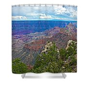 View Two From Walhalla Overlook On North Rim Of Grand Canyon-arizona Shower Curtain