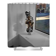 Viewdoo Shower Curtain by Charles Stuart
