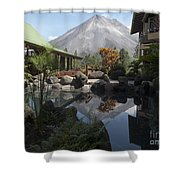 Viewing Arenal Volcano Shower Curtain