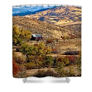 Viewing The Old Barn Shower Curtain by Robert Bales