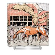 Viewing The Racehorse In The Paddock Shower Curtain