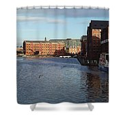 Views From Historic Gloucester Docks 2 Shower Curtain