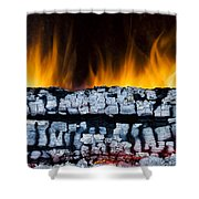 Views From The Fireplace Shower Curtain
