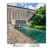 Views Of Man Made Dam At Lake Fontana Great Smoky Mountains Nc Shower Curtain