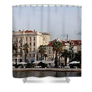 Views Of Split Croatia Shower Curtain