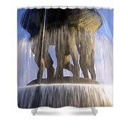 Vigelands Fountain 3 Shower Curtain