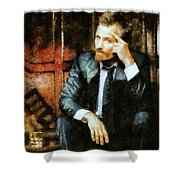 Viggo Posed In A Chair Shower Curtain