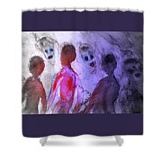 Been To The Ball And Going To The Nachspiel  Shower Curtain by Hilde Widerberg