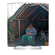 Viking Fisherman At L'anse Aux Meadows-nl  Shower Curtain