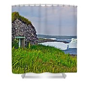 Viking House On Fishing  Point In Saint Anthony-nl Shower Curtain