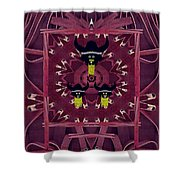 Vikings  And Leather Pop Art Shower Curtain