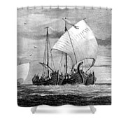 Vikings Cross The North Sea Shower Curtain