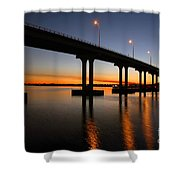 Vilano Bridge At Dusk St Augustine Florida Shower Curtain