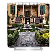 Villa Courtyard Shower Curtain