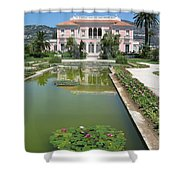 Villa Ephrussi De Rothschild With Reflection Shower Curtain