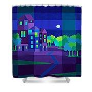 Villa Night Shower Curtain