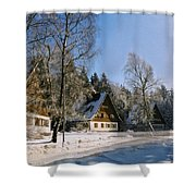 Village Shower Curtain by Aged Pixel