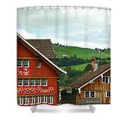 Hotel Santis And Hillside Of Appenzell Switzerland Shower Curtain