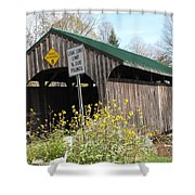 Village Bridge Waterville Vermont Shower Curtain