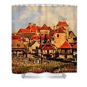 Village De Fleuris Shower Curtain