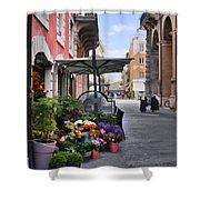 Village Flowershop Shower Curtain