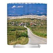 Village Gorica Island Of Pag Shower Curtain