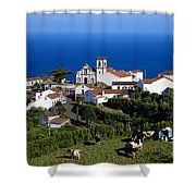 Village In Azores Islands Shower Curtain by Gaspar Avila