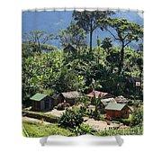village in eastern Madagascar Shower Curtain