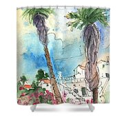 Village In Lanzarote 02 Shower Curtain