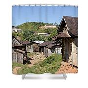 village in Madagascar Shower Curtain