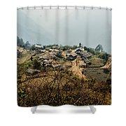 Village In Sikkim Shower Curtain