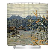 Village In The Ural Mountains Shower Curtain